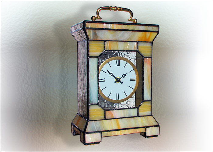 Stained Glass Desk Clock Nr. 4743
