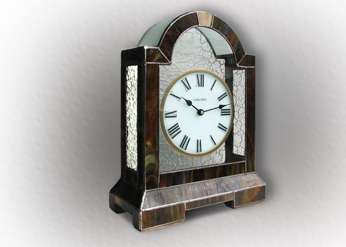 Stained Glass Desk Clock Nr. 4746