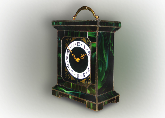 Stained Glass Desk Clock Nr. 4749