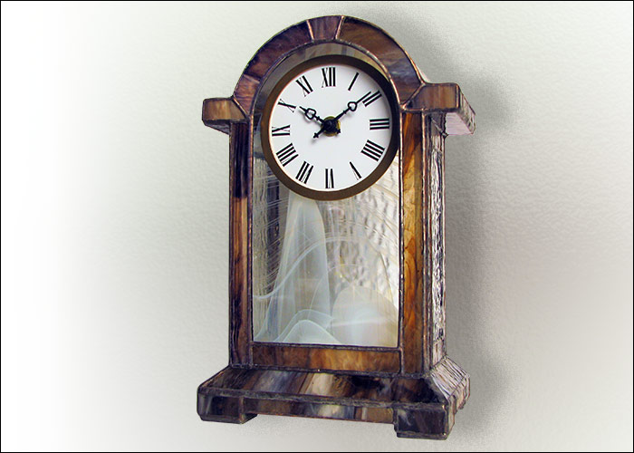 Stained Glass Desk Clock Nr. 4751