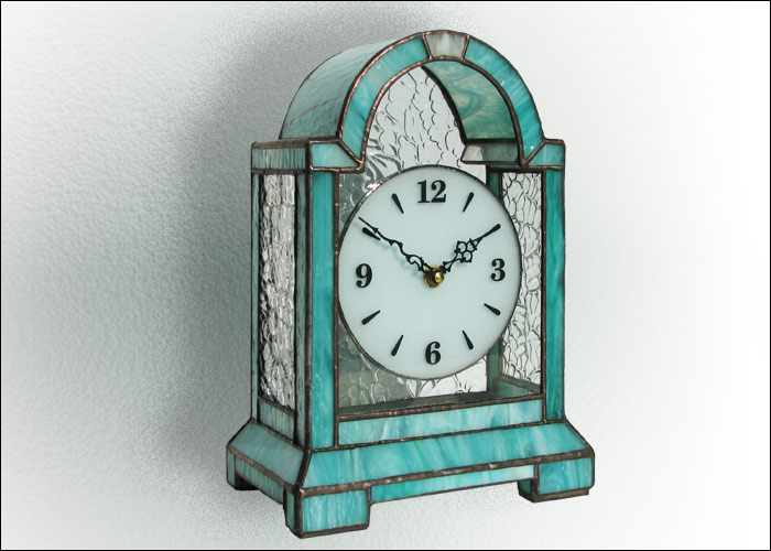 Stained Glass Desk Clock Nr. 4752