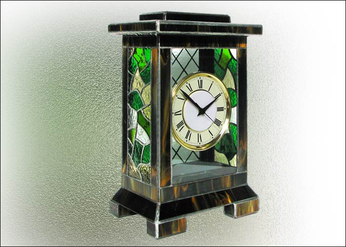 Stained Glass Desk Clock Nr. 4761