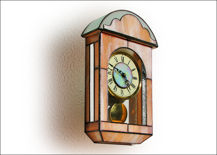 Stained Glass Wall Clock Nr. 4801
