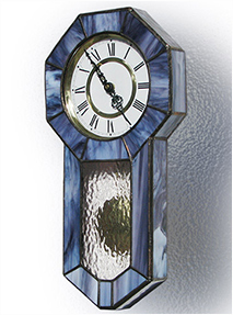 Stained Glass Clock Nr. 4807, Tiffany technique