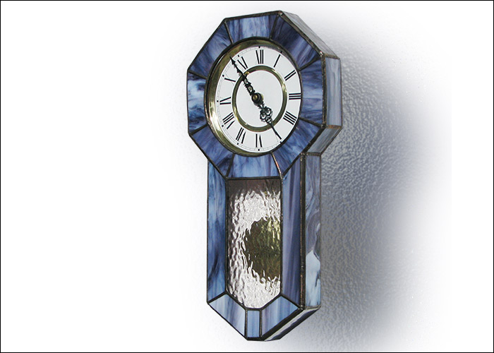 Stained Glass Wall Clock Nr. 4795
