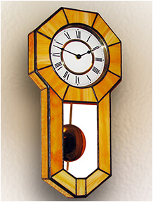 Stained Glass Clock Nr. 4808, Tiffany technique