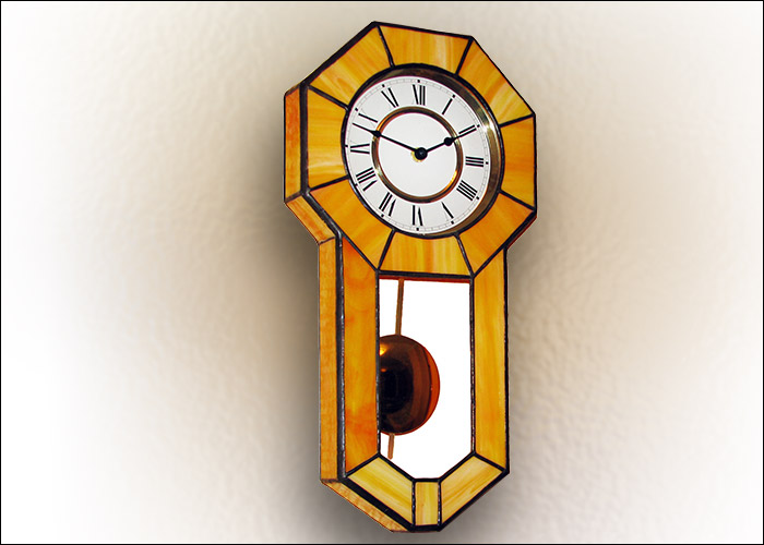 Stained Glass Wall Clock  Nr. 4708