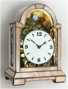 Classic table clock with money box Nr. 4818