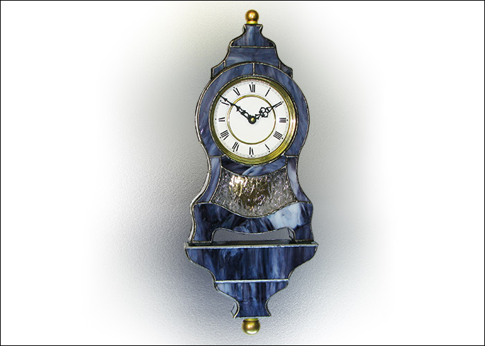 Stained Glass Wall Clock  Nr. 4810