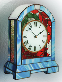 Stained Glass Clock Nr. 5054, Tiffany technique