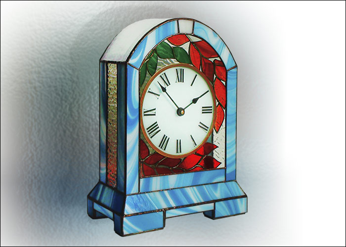 Stained Glass Desk Clock Nr. 5054