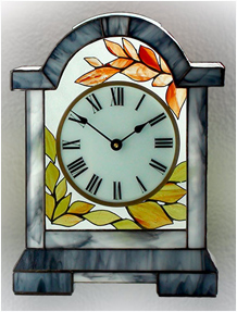Stained Glass Clock Nr. 5060, Tiffany technique
