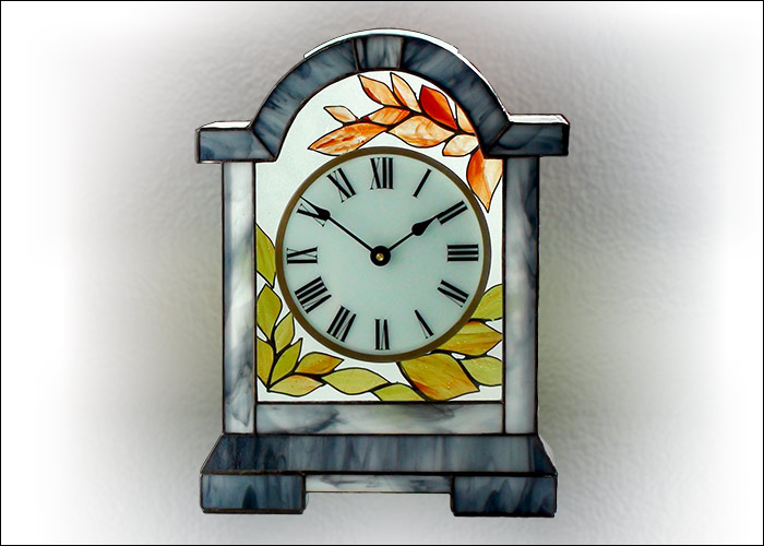 Stained Glass Desk Clock Nr. 5060