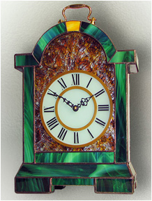 Stained Glass Clock Nr. 5062, Tiffany technique