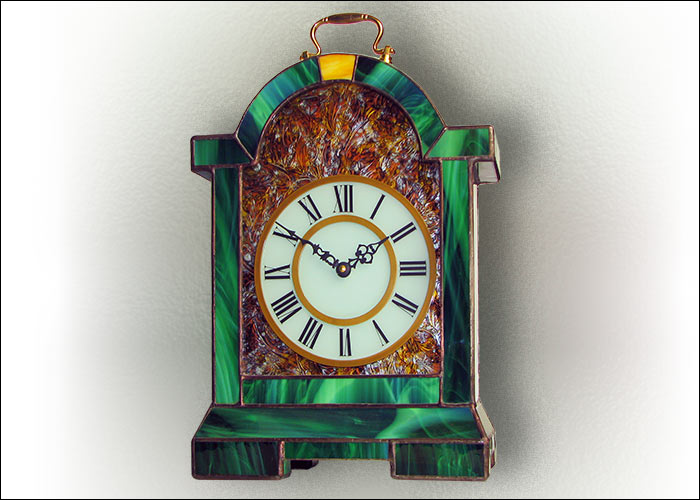Stained Glass Table Clock Nr. 5062