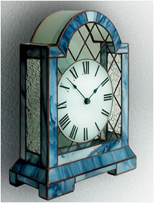 Stained Glass Clock Nr. 5064, Tiffany technique