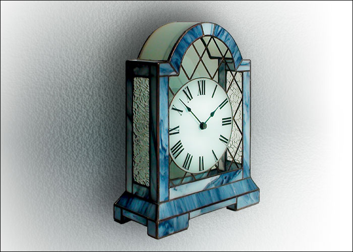 Stained Glass Table Clock Nr. 5064