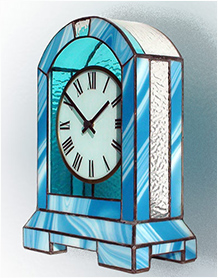 Stained Glass Clock Nr. 5078, Tiffany technique