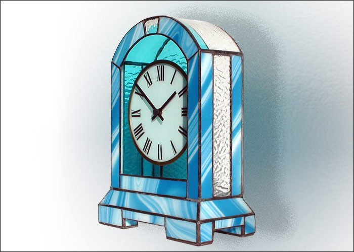 Stained Glass Desk Clock Nr. 5078