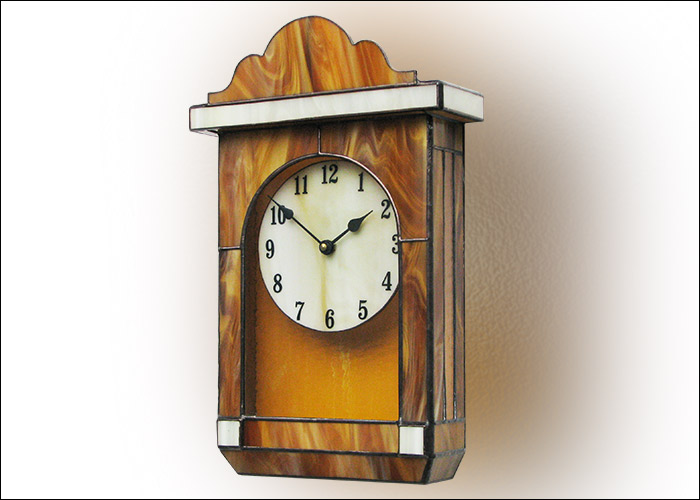 Stained Glass Wall Clock Nr. 5280