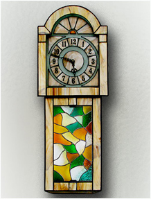Stained Glass Clock Nr. 5299, Tiffany technique