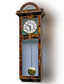 Stained Glass Clock Nr. 5306, Tiffany technique