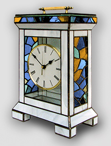 Stained Glass Clock Nr. 5338, Tiffany technique