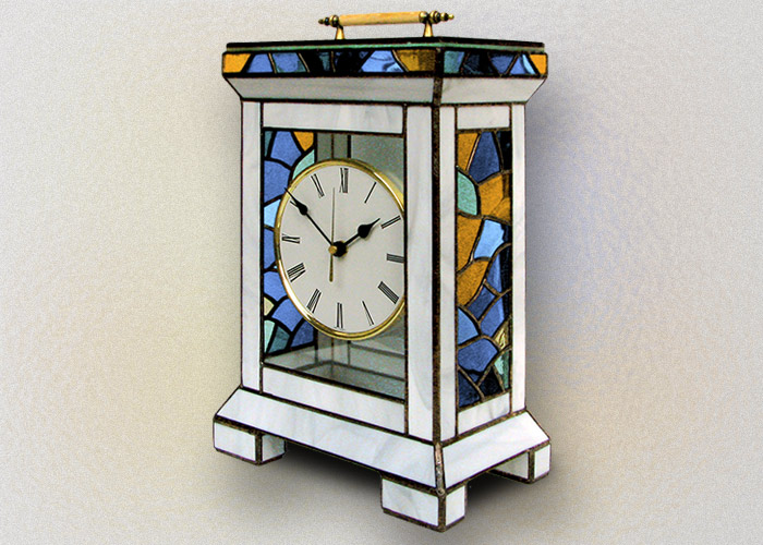 Stained Glass Desk Clock Nr. 5338