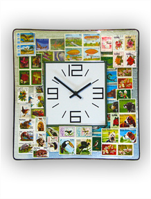 Stamps Wall Clock, No. 6342