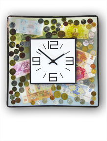 Money Wall Clock  No. 6367