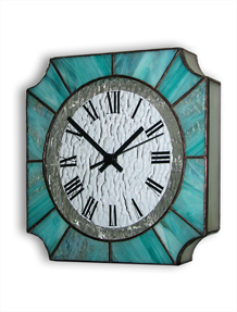 Stained Glass Clock Nr. 7040, Tiffany technique