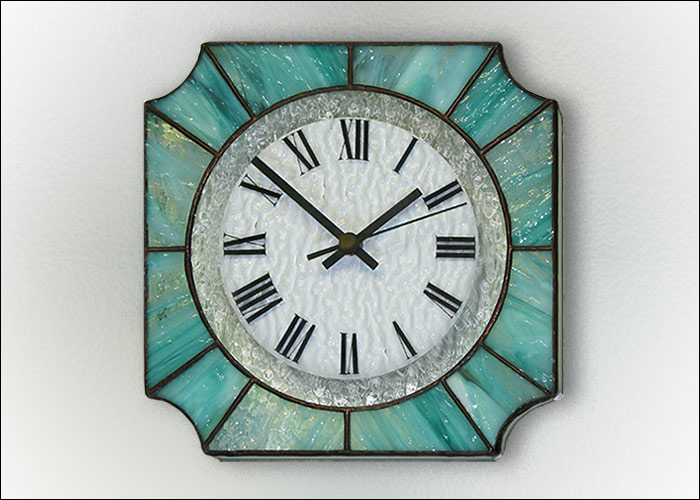 Stained Glass Wall Clock Nr. 7040