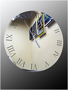 Oversized mirror clock Nr. 9456