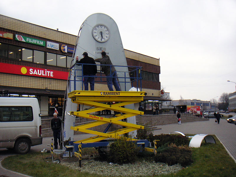 "Daugavpils,""SEB banka"" 2-sided advertising clock"