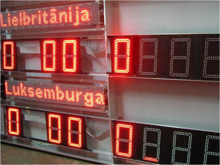 Scoreboards and sport chronometers