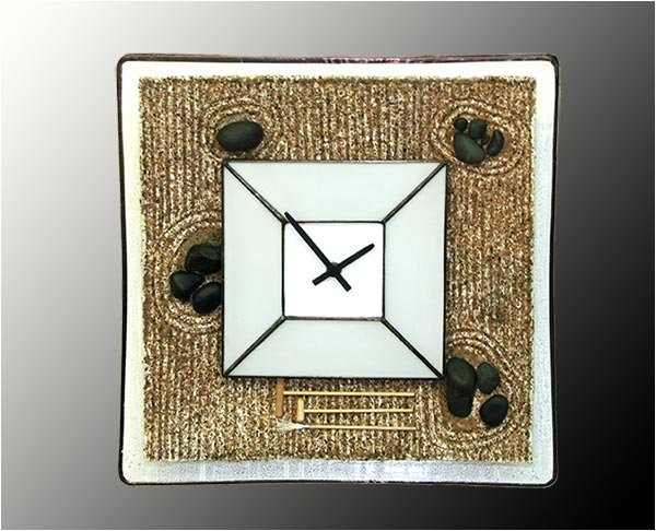 Stained Glass Wall Clock Nr. 6305
