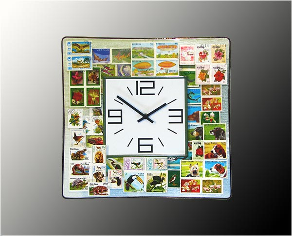 Stained Glass Wall Clock Nr. 6342