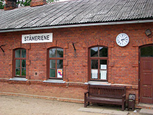 Stameriene, Railroad Station, Facade Clock
