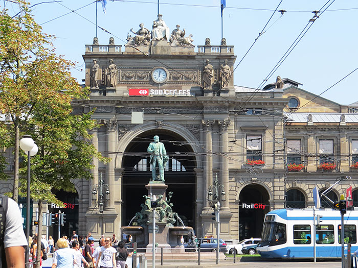 Zurich's main railway station, Switzerland